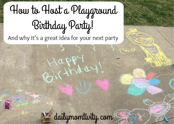 How To Host A Play Ground Birthday Party For Your Kids